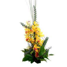 Bouquet Žltá orchidea