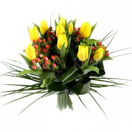 Bouquet Tulips in Yellow