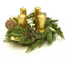 Advent wreath Forest Winter Gold