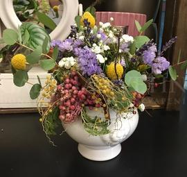 Arrangement full of flowers