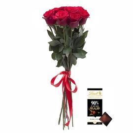 Bouquet 7 roses + Lindt