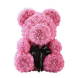 Rose Teddy Bear - Pink