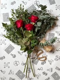Eucalyptus + roses