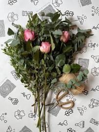 Eucalyptus + pink roses (duplicate)