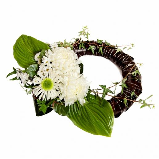 Mourning wreath Biela spomienka