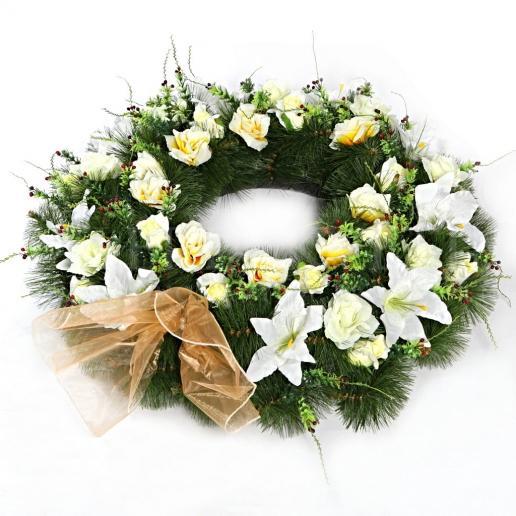 Mourning wreath Rozlúčka v bielom