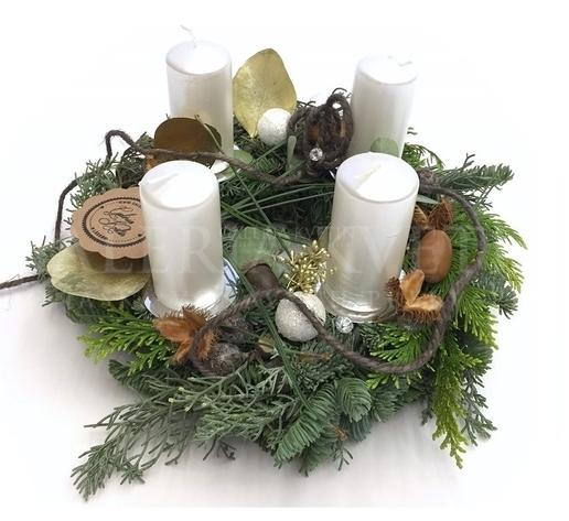 Advent wreath Forest Winter