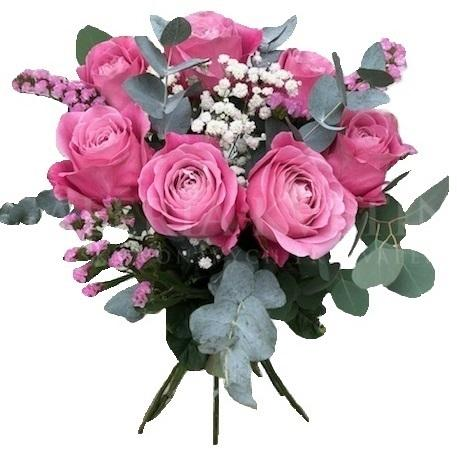 Pink roses bouquet 5-20