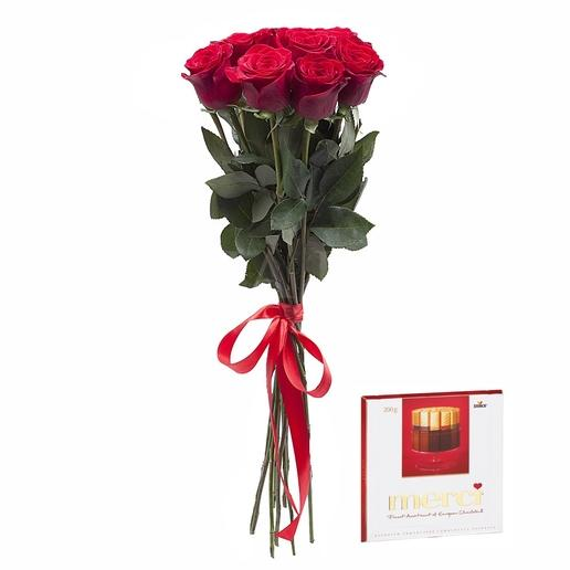 Bouquet 7 roses + Merci